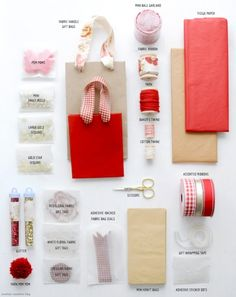 DIY Gift Wrapping Kit Tutorial from Creature Comforts Blog here. I gave this present one year to a friend and used an under the bed Rubbermaid container and she LOVED it. I kept is simple and bought...