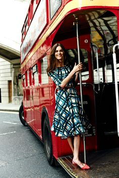 *~* duck boat?? :P // A traffic-stopping frock. Shop with 15% off for 24 hours with code LDN1 (UK) or LDN2 (US) #Boden #AW14