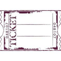 Tampon mousse Maxi - Ticket : 9.5 x 14.5 cm