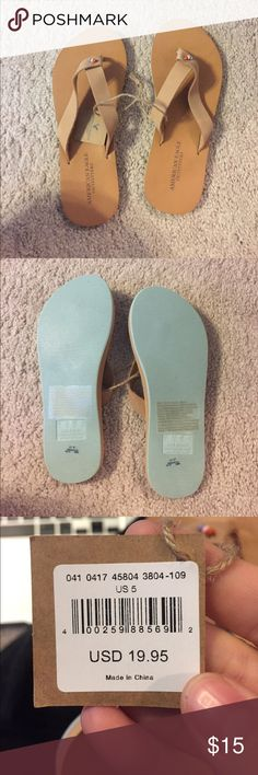 American Eagle Flip Flops! NWT NWT American Eagle Flip Flops. Leather upper and lining. Great flip flops! American Eagle Outfitters Shoes Sandals