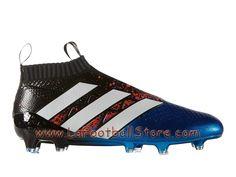 Adidas Homme Football Chaussures ACE 16+ Purecontrol Paris Pack terrain souple Shock Blue