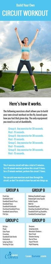 Build your own workout circuit exercises chart.