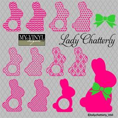 DIGITAL DOWNLOAD ... Easter Bunny vectors in AI, EPS, GSD, & SVG formats @ My Vinyl Designer #myvinyldesigner #ladychatterly