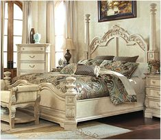 The Ortanique Sleigh Bedroom Set From Ashley Furniture HomeStore  (AFHS.com). The Exquisite Old World Beauty Of The U201cOrtaniqueu201d Bedroom  Collection Cu2026