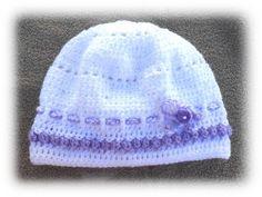 bonnet 6 - 9 mois pour bébé crocheté main modèle unique : Mode Bébé par l-atelier-de-zoune