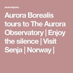 Aurora Borealis tours to The Aurora Observatory | Enjoy the silence | Visit Senja | Norway |
