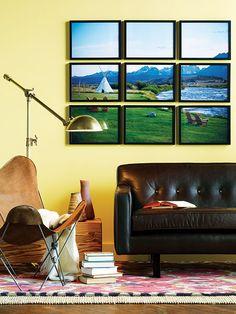 DIY #art installation! Stealing this idea for sure. #interiordesign #homedecor #photography