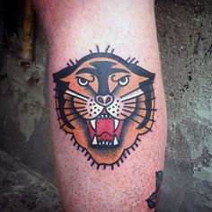 75 Traditional Tiger Tattoo Designs For Men - Striped Ink Ideas Mens Tiger Tattoo, Tiger Eyes Tattoo, Tiger Tattoo Sleeve, Lion Tattoo Sleeves, Tiger Tattoo Design, Calf Tattoo, Tattoo Sleeve Designs, Flower Tattoo Designs, Tattoo Designs Men