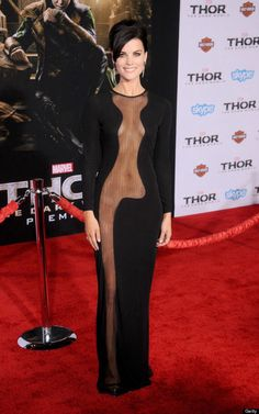 Fit girl Jaimie Alexander at the Thor Premiere
