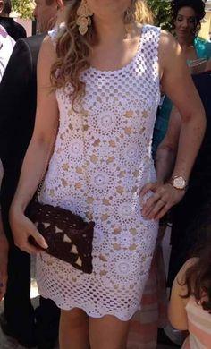Manetes d'Or: Vestido Blanco a crochet. Esquemas.