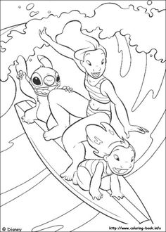 Lilo and Stitch coloring picture