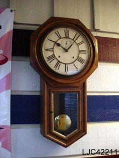 Ansonia Regulator Wall Clock Hi This is a large Ansonia Regulator