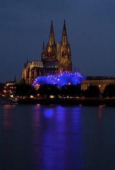 Cologne, Germany (Looks like a Purple Dragon)