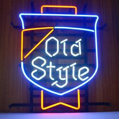 Old Style Beer Lager Neon Beer Bar Pub Sign///How I love you neon signs , Real nice for my Home Bar Deco