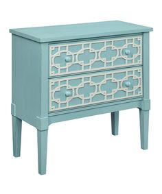This Light Blue Two Drawer Cabinet by Coast to Coast is perfect! #zulilyfinds