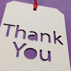 Handcut Papercut Thank You Gift Tags by BethaniePapercuts on Etsy