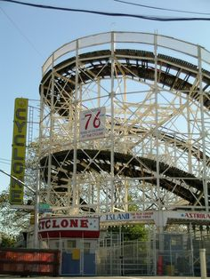 Cyclone - Coney Island - Brooklyn, NY - Rider her at your own risk!  best of my teen years!!! cutting class from Lafayette and going for a ride!!!