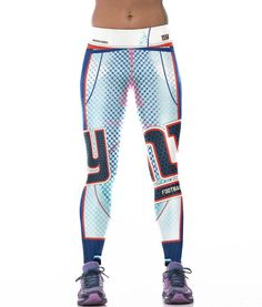 Unisex NFL Team New York Giants Logo Yoga Leggings Woman Fitness Leggings  Gym Workout Pants 6f2a6cccc58