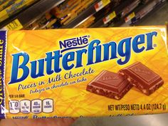 "As the saying goes, ""Nobody better lay a finger on my Butterfinger."""