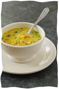 Nearly Instant Vegan Thai Coconut Corn Soup - Kosher Recipes & Cooking - Added mushrooms and used lite coconut milk. Simple and delicious!