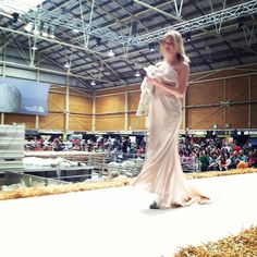 'Sweetie' the 2-week old lamb on the runway for Lanolips at The Royal Easter Show, 2012