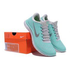 b9a10232312d0 RK2068-Damen Nike Free Run 3.0 V4 Türkis Grau Günstige   Freestyle-de.