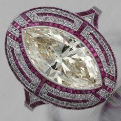 Marquis Diamond Ring--stunning!!