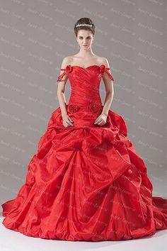 Oscar De La Renta Red Wedding Gown Toronto Valencienne