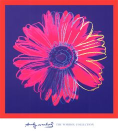 Daisy, c.1982 (Blue and Red) by Andy Warhol. Giclee print from Art.com.
