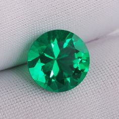 10mm round gem Quality Lab created Emerald precious stone  Hydrothermal Emerald green Color circular  2.5ct-3.0ct