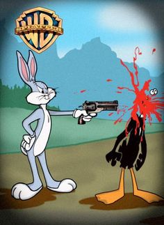 .ஜ Bug Bunny Shot Daffy Duck ஜ.
