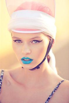 Neon blue lips #JulepColorChallenge