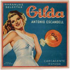 Etiqueta Naranja Cajón español de España Vintage Original Carcagente Gilda escasos 1940S | eBay
