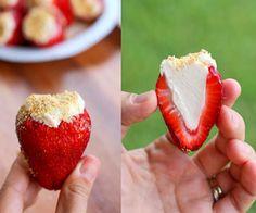Low Carb Stuffed Strawberry Snack Idea