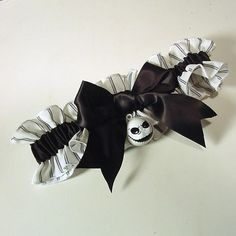 wedding garter JACK SKELLINGTON wedding garter by PetereneDesign, $25.00