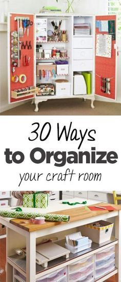 30 Ways to Organize Your Craft Room - get your craft room organized with these clever storage solutions