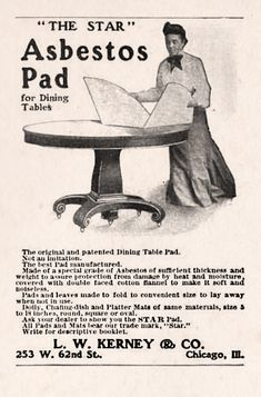 Kerney & Co. Asbestos Pad for Dining Tables, like a good idea at the timeHOUSEHOLD: L. Kerney & Co. Asbestos Pad for Dining Tables, like a good idea at the time Funny Vintage Ads, Funny Ads, Vintage Humor, Retro Vintage, Vintage Signs, Vintage Ladies, Hilarious, Old Advertisements, Retro Advertising