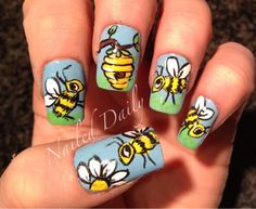 Honey Bees #nail #nails #nailart