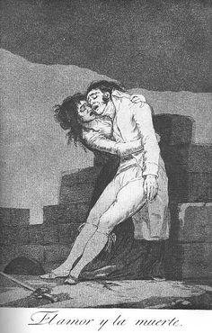 Francisco de Goya - El amor y la muerte, 1799. Los Caprichos nº 10.