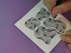 How to draw Tangle Pattern Nymph Lesson by Melinda Barlow Mandala Pattern, Zentangle Patterns, Mosaic App, Cycle Drawing, Singapore Sling, Doodle Art Designs, Doodles Zentangles, Mandala Drawing, Feeling Stuck