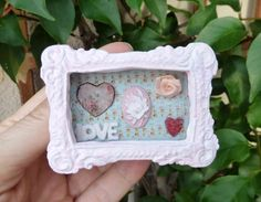 Romantic shabby pink cofee table dollhouse miniature by Evamini, $35.00