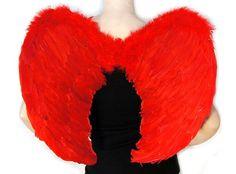 Skrzydła anioła 62x45cm czerwone na imprezę   Przebrania   Upominki24.com
