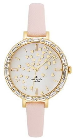 Kate Spade always has the most perfect watches!! Kate Spade'metro' Crystal Bezel Heart Dial Watch