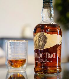 """The """"flagship"""" brand and base product from the esteemed Buffalo Trace Distillery. Buffalo Trace Distilled from thier mash-bill and bottled at 90 proof. Bourbon Mixed Drinks, Bourbon Cocktails, Classic Cocktails, Good Whiskey, Bourbon Whiskey, Scotch Whisky, Rum Bottle, Whiskey Bottle, Tequila"""