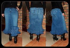Jean Skirt Custom Order to Your Size Of The by CustomJeanSkirts, $58.00