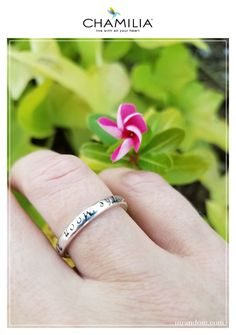 """Check out the tiny treasures of stackable rings by Chamilia. Review featuring the """"I Love You To The Moon And Back"""" ring in sterling silver. #ad"""