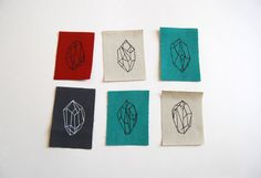 Mini Crystal Gem Six Patch Set by FennecDesignCo on Etsy, $6.00
