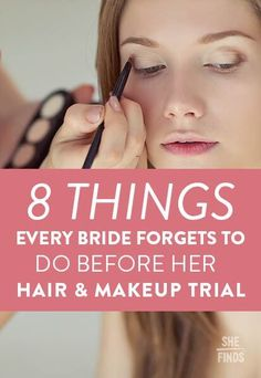wedding beauty tips 8 Things Every Bride Forgets To Do Before Her Hair And Makeup Trial Wedding Day Tips, Wedding Makeup Tips, Hair And Makeup Tips, Bride Makeup, Wedding Advice, Wedding Hair And Makeup, Wedding Planning Tips, Hair Makeup, Wedding Ideas