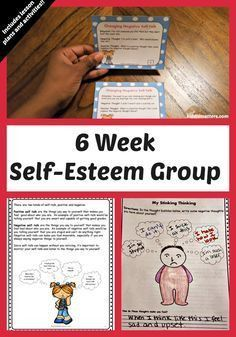 Self Esteem Building Small Group Counseling Lesson Plans and Workbook Self Esteem Building Small Group Counseling Lesson Plans and Workbook,Internship This Six Week Self-Esteem Group resource contains games, activities, task cards, and worksheets to. Self Esteem Worksheets, Self Esteem Activities, Counseling Activities, Group Counseling, Therapy Activities, Play Therapy, Group Activities, Classroom Activities, Art Therapy