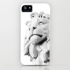Stone Lion - Black&White iPhone & iPod Case by Andrea Scala - $35.00